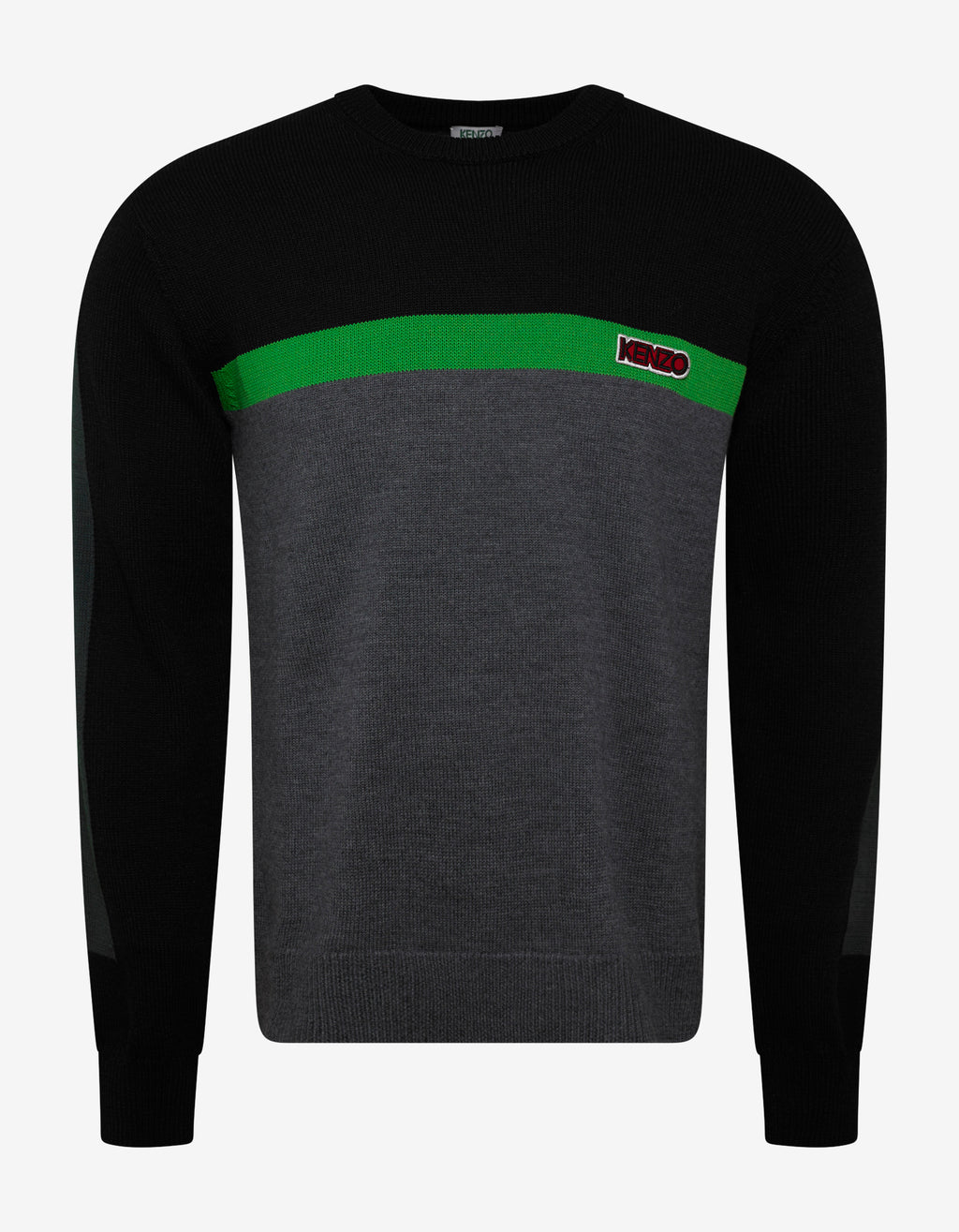 Colour Block Panel Logo Sweater