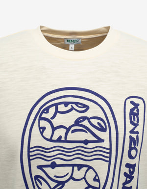 Ecru Marine Graphic Print T-Shirt