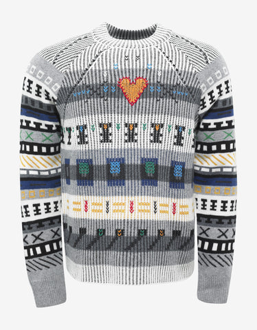 Kenzo Fair Isle Embroidered Sweater