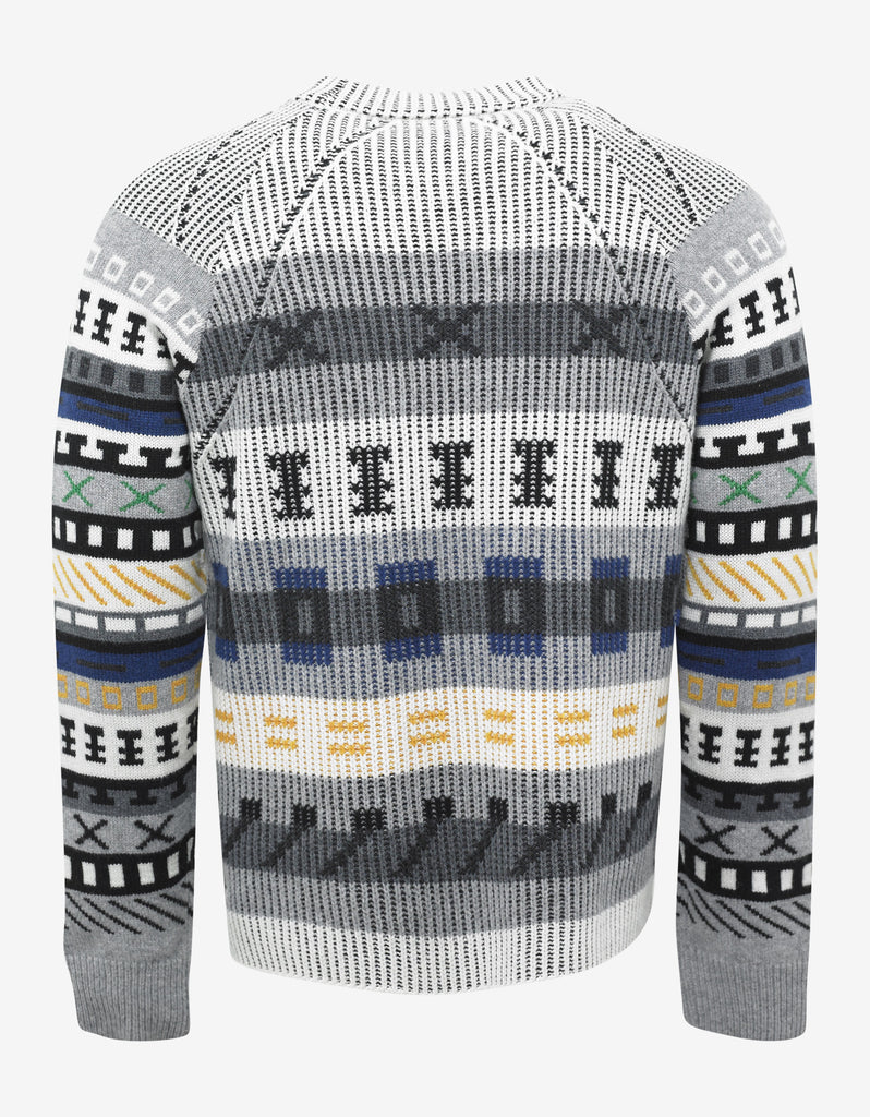 Fair Isle Embroidered Sweater