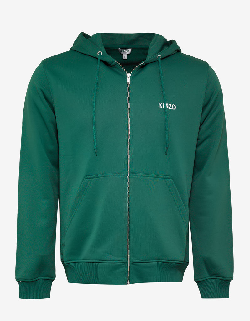 Green Dragon Embroidered Hoodie