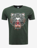 Green Tiger Print T-Shirt