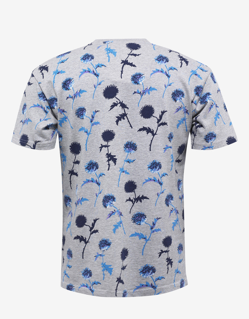 Grey Dandelion Print Signature T-Shirt