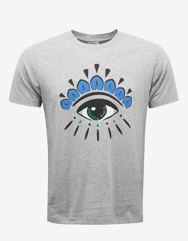 Kenzo Grey Eye Graphic T-Shirt