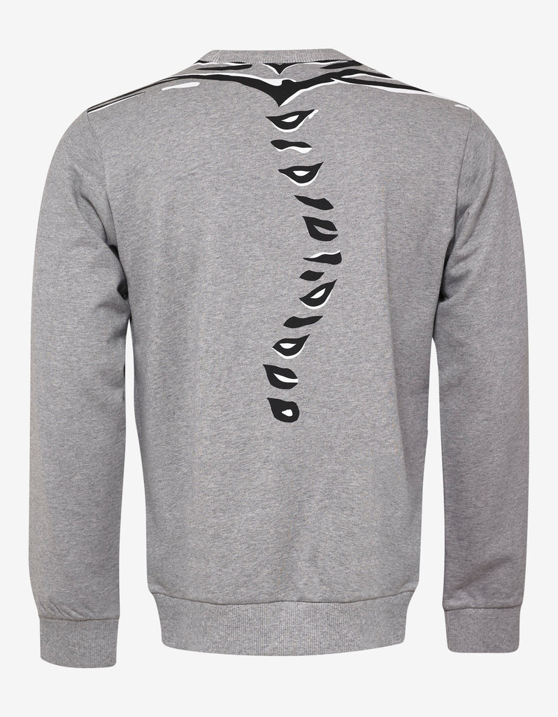 Grey Geo Tiger Sweatshirt