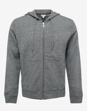 Grey Marl Tiger Head Zip Hoodie