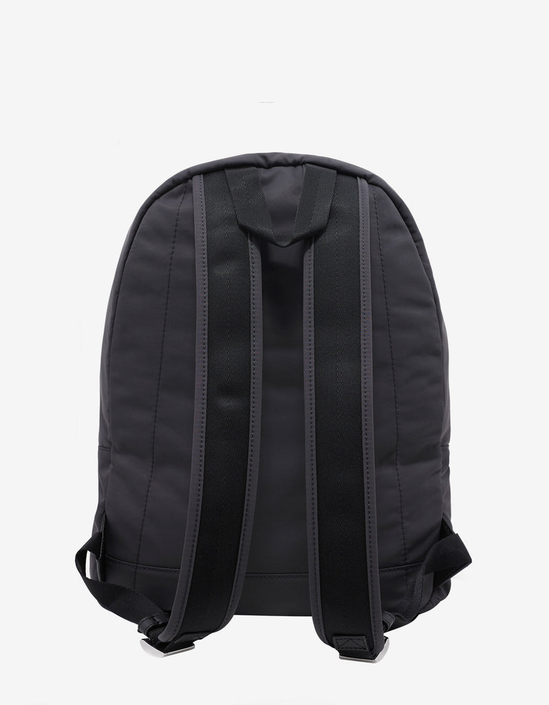 Grey Signature Print Backpack