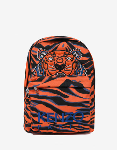Kenzo Tiger Stripe Logo Backpack