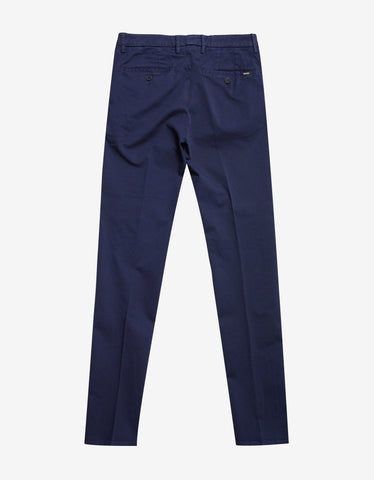 Kenzo Ink Blue Chino Trousers