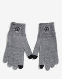 Grey Marl Tiger Head Gloves