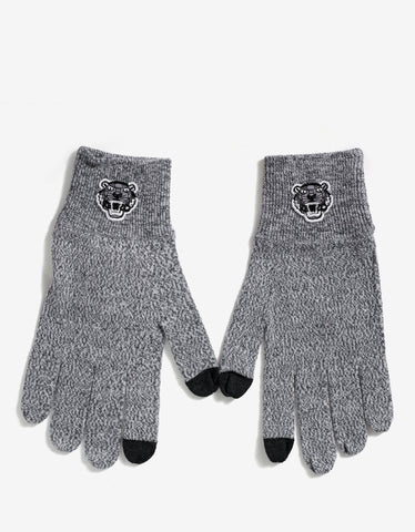 Kenzo Grey Marl Tiger Head Gloves