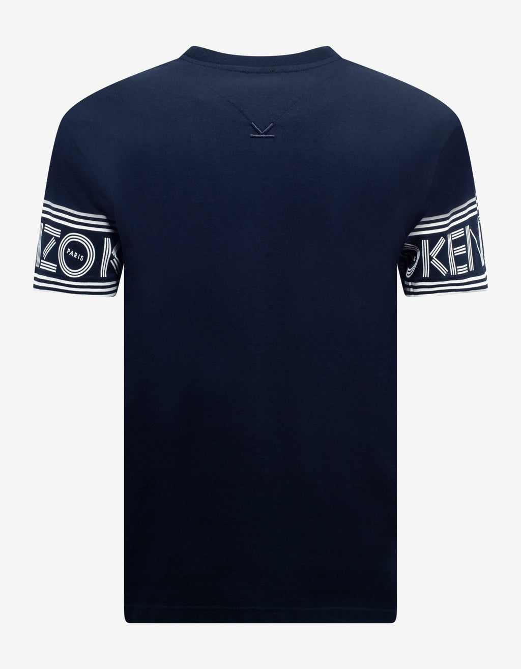 Navy Blue Logo Sleeve T-Shirt