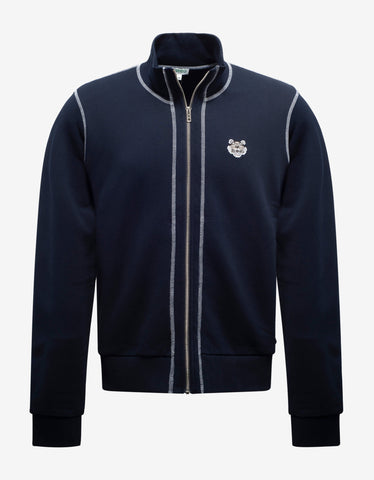 Navy Blue Marine Embroidered Wool Sweater