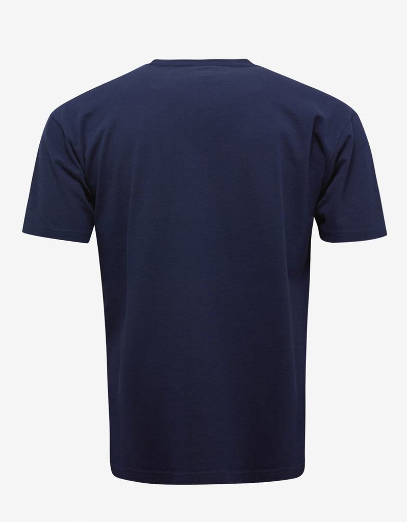 Navy Blue Tiger Embroidery T-Shirt