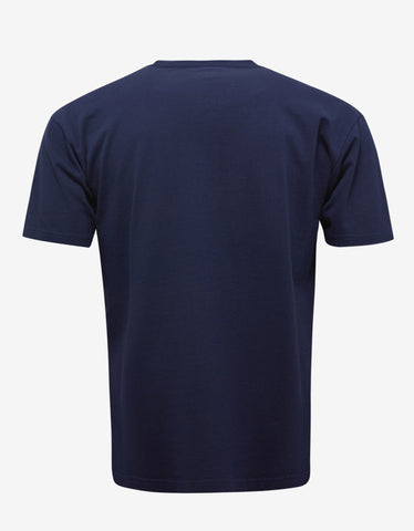 Kenzo Navy Blue Tiger Embroidery T-Shirt