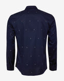 Navy Blue YMO Embroidery Shirt