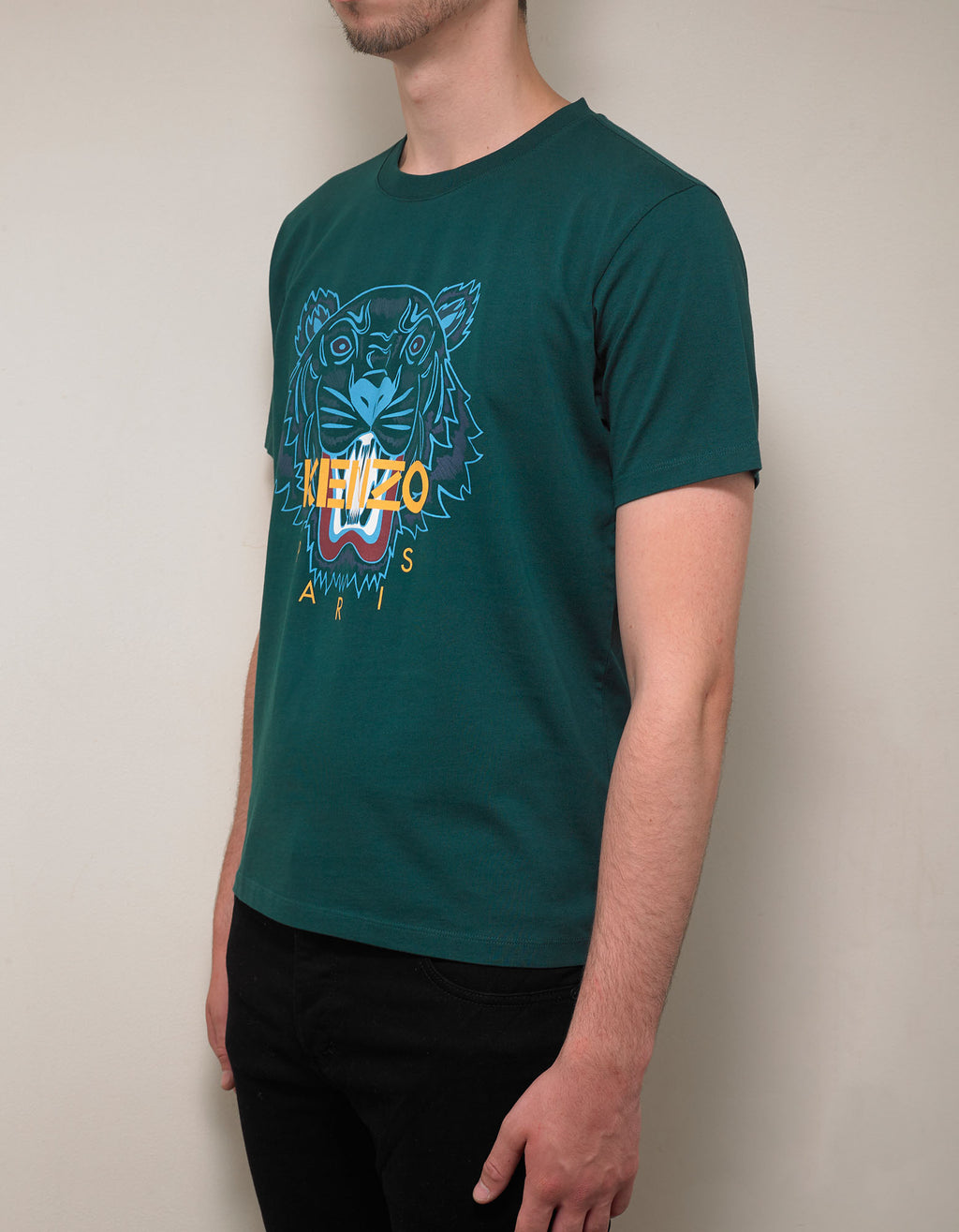 Pine Green Tiger Print T-Shirt