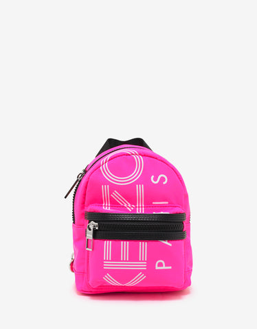 Kenzo Pink Logo Mini Backpack