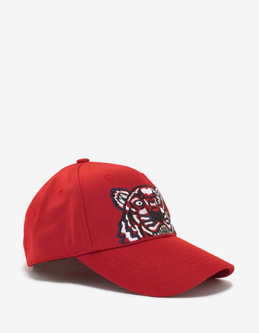 Red Tiger Embroidery Cap