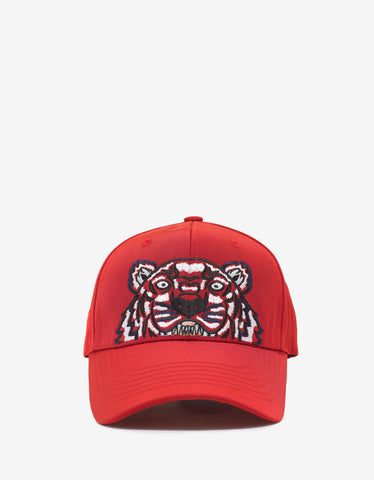 Kenzo Red Tiger Embroidery Cap