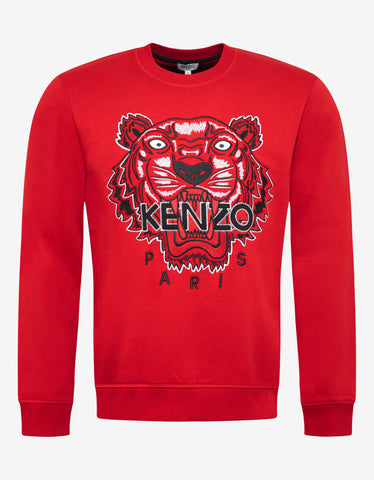 Kenzo Red Tiger Embroidery Sweatshirt
