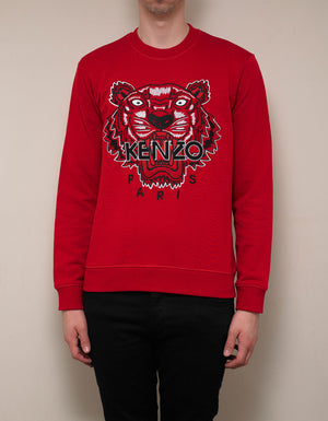 Red Tiger Embroidery Sweatshirt