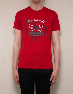 Red Tiger Print T-Shirt