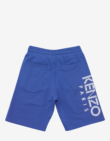 Kenzo Royal Blue Logo Print Sweat Shorts