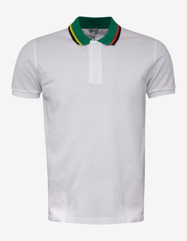 Kenzo White Bi-Colour Polo T-Shirt