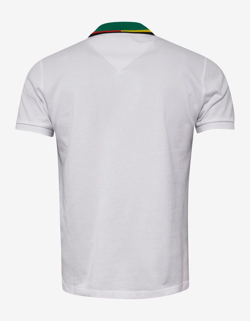 White Bi-Colour Polo T-Shirt