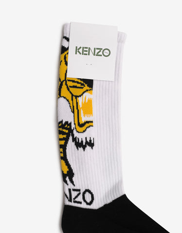 Kenzo White & Black Tiger Socks