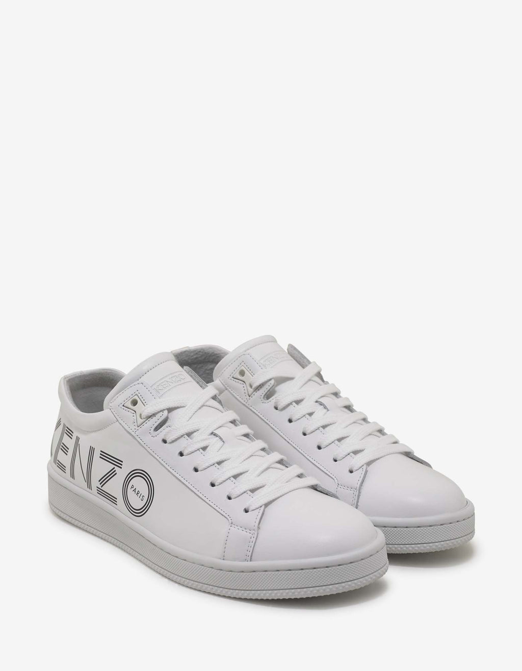 White Leather Tennix Trainers -