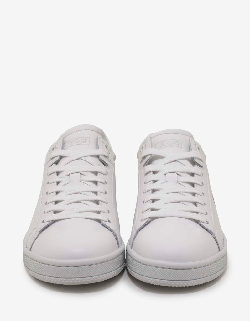 White Leather Tennix Trainers