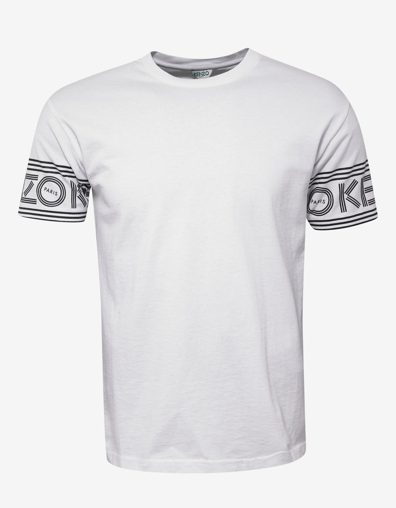 White Logo Sleeve T-Shirt