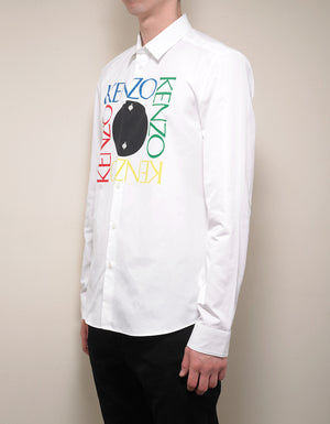 White Square Logo Slim Shirt
