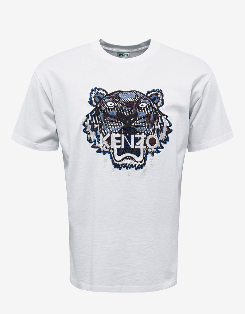 White Tiger Embroidered T-Shirt
