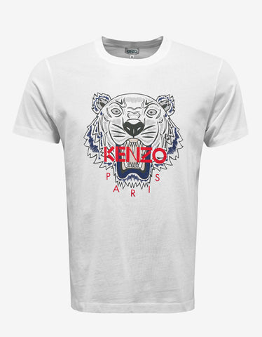 Kenzo White Tiger Graphic T-Shirt