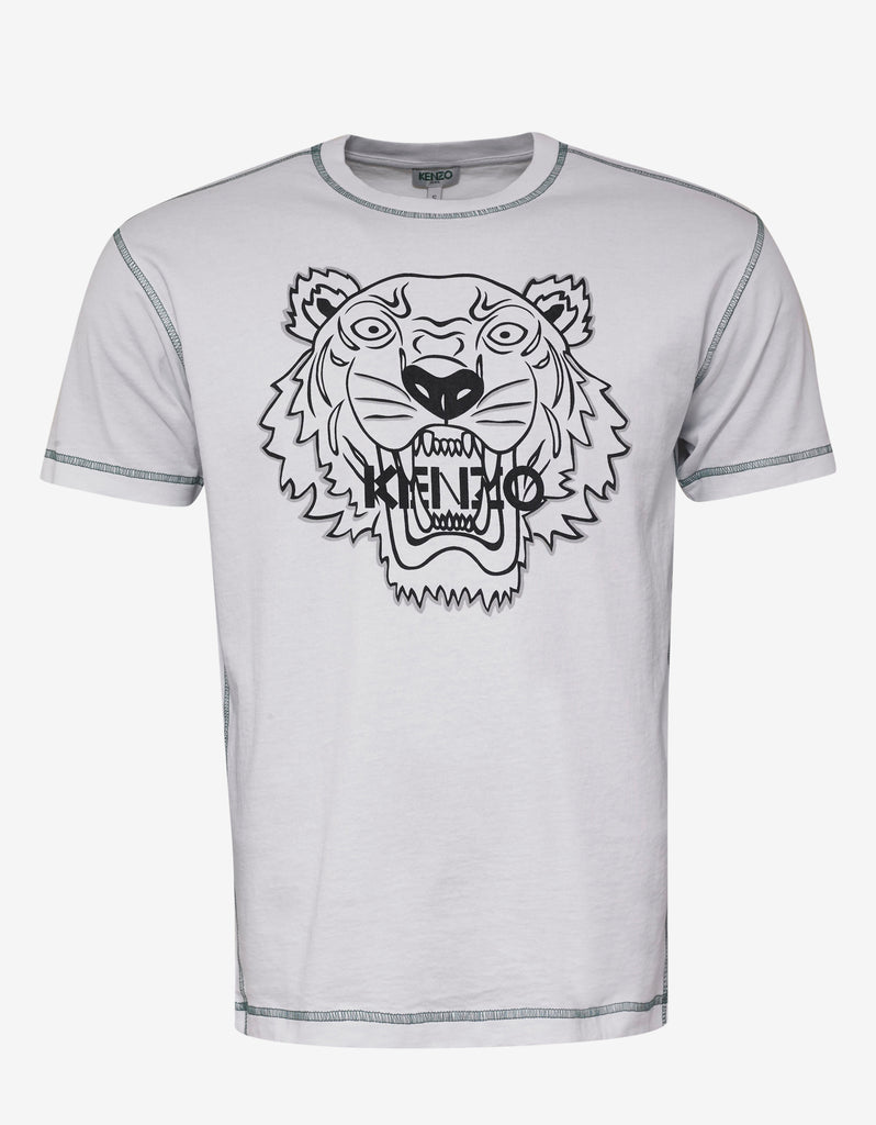 b3c083b81a5d Kenzo White Tiger T-Shirt with Topstitching – ZOOFASHIONS.COM