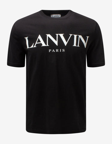 Black VLOGO Shadow Print T-Shirt