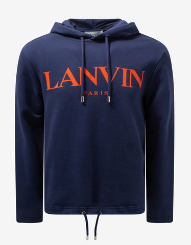 Navy Blue Embroidered Logo Sweatshirt