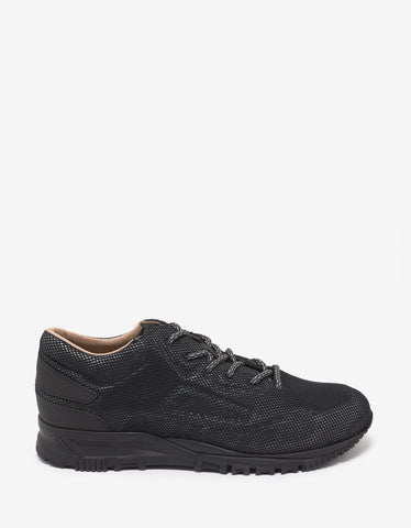 Lanvin Black All-Over Mesh Running Trainers