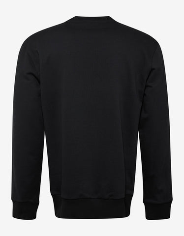 Lanvin Black Beaded Spider Graphic Sweatshirt