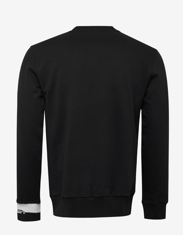 Lanvin Black Bird Embroidery Sweatshirt