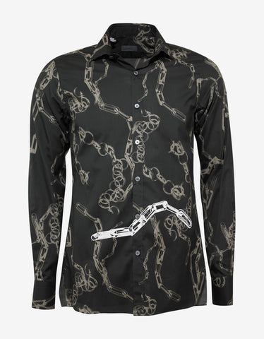 Lanvin Black Chain Print Shirt