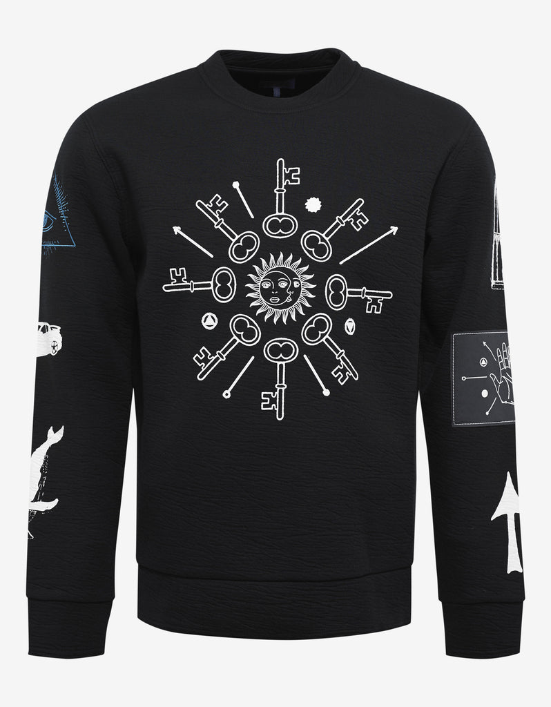 Black 'Holy' Graphic Sweatshirt