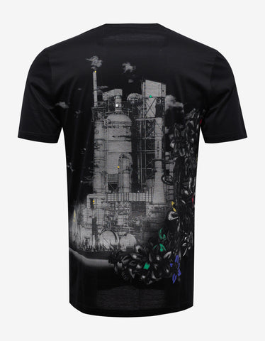 Black 'The Refinery' Print T-Shirt