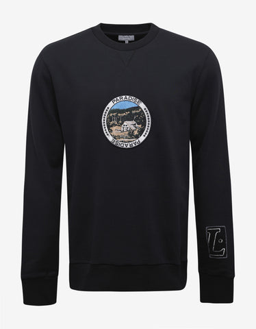 Lanvin Black Paradise Patches Sweatshirt