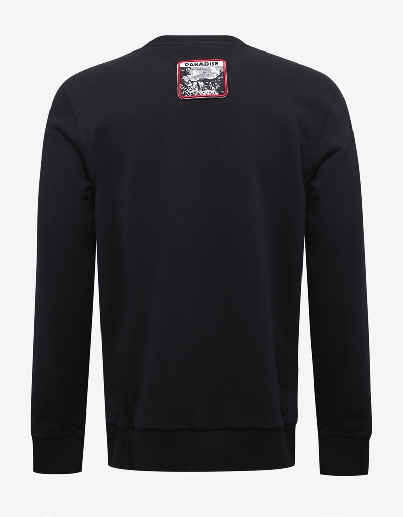 Black Paradise Patches Sweatshirt