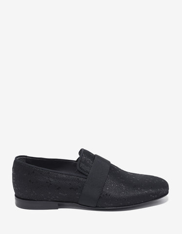 Lanvin Black Slippers with Sequin Embellishments