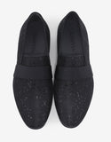 Black Slippers with Sequin Embellishments